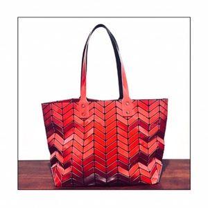 903bdf0c006 NWT Emilio Pepe Modern Tote Bag in Red Herringbone